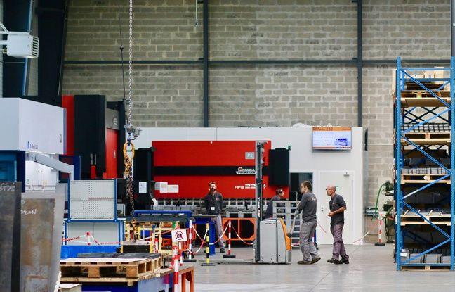 Le groupe Oxymetal, leader français de la découpe industrielle, a inauguré une nouvelle usine à Pompignac, près de Bordeaux, le 23 octobre 2018.
