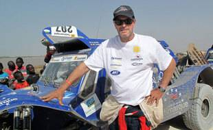 Hubert Auriol à Dakar, au Sénégal, en 2013.