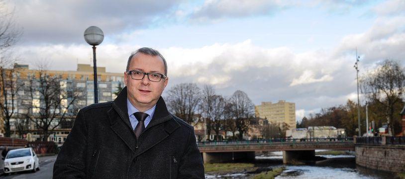 Damien Meslot, maire (LR) de Belfort (archives).