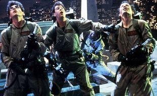 Image tirée du film Ghostbusters avec Dan Aykroyd, Harold Ramis et Bill Murray