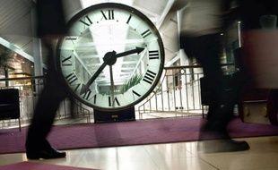 Une horloge dans un lieu public