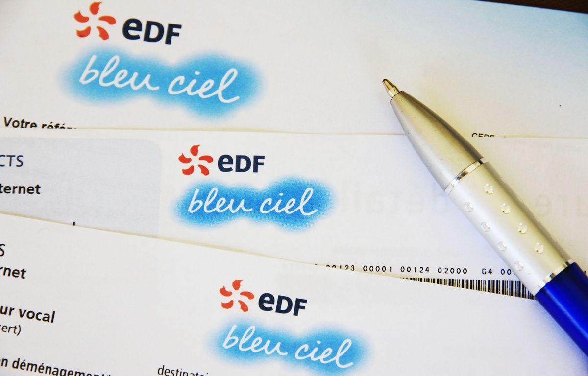 Facture d'électricité EDF (illustration). – XAVIER VILA/SIPA