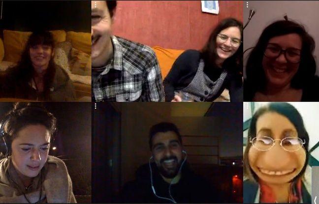 Les séances de ciné simultanées de Laurent et ses amis et amies.