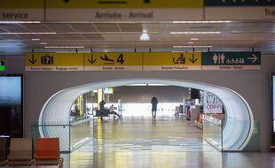 Au sein de l'aéroport de Toulouse-Blagnac en période de Covid-19.