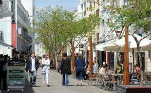 Une rue du centre de Lorient (illustration).