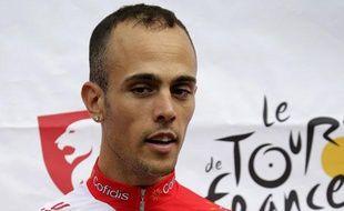 Le coureur français de l'équipe Cofidis Rémi Di Gregorio, le 28 juin 2012, à Liège.