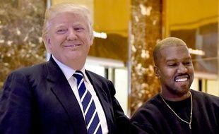 Kanye West a rencontré Donald Trump à la trump Tower de New York, le 13 décembre 2016.