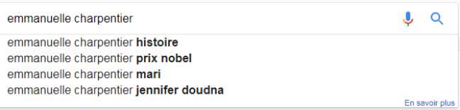 Capture d'écran Google.