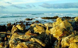 Le cap Agulhas, le point le plus méridional de l'Afrique, au large duquel se forme un courant chaud.