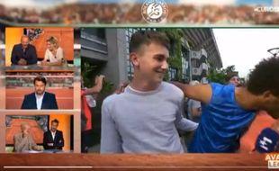 Capture d'écran des baisers de Maxime Hamou