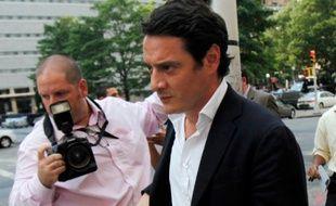 David Koubbi, l'avocat de Tristane Banon, lors de son arrivée chez le procureur, à New York, le 19 juillet 2011.
