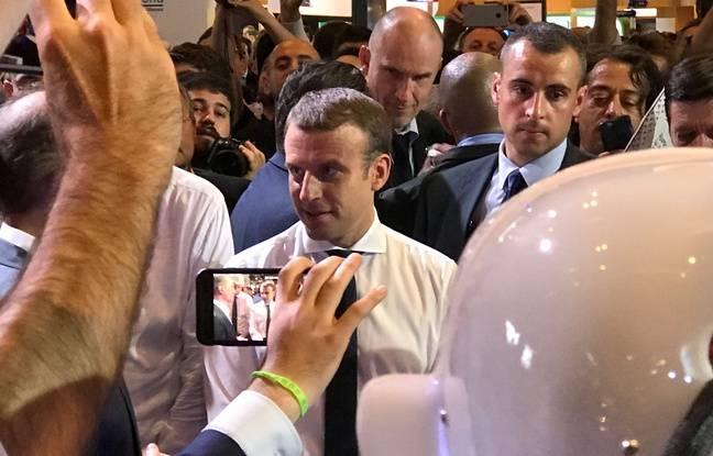 Emmanuel Macron, en visite à Viva Technology le 15 juin.