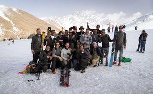 """Les Crapules, ici lors de leur voyage au Maroc pour le film """"Tajine Express""""."""