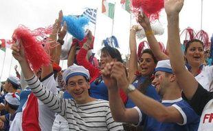 Les proches de Tony Estanguet, lors du titre de champion olympique de canoë du Français, le 31 juillet 2012 à Londres.