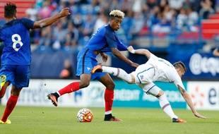 Presnel Kimpembe avec les Bleuets en septembre 2016.