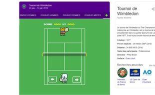 Google a dissimulé un mini-jeu de tennis pendant le tournoi de Wimbledon.