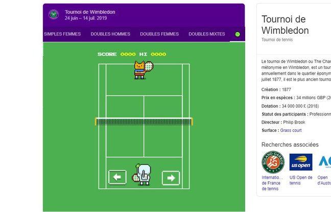 Wimbledon: Google a caché un mini-jeu de tennis dans son moteur de recherche