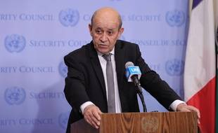 Le ministre des Affaires étrangères, Jean-Yves Le Drian, au siège de l'ONU à New York le 15 juillet 2021 (illustration).