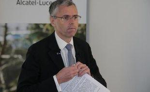 Le directeur général d'Alcatel-Lucent, Michel Combes, le 6 février 2015 à Paris