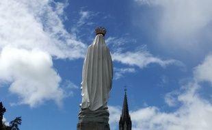 Le sanctuaire de Lourdes le 26 avril 2019.