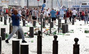 Les affrontements entre Russes et Anglais à Marseille en juin 2016.