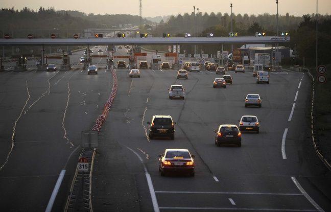 L'autoroute A11 au péage d'Ancenis (illustration)