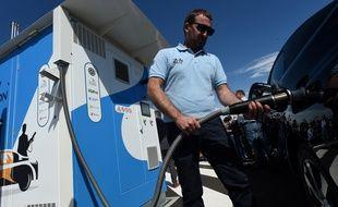 Une station de distribution d'hydrogène au Mans, le 8 juillet 2020 (illustration).
