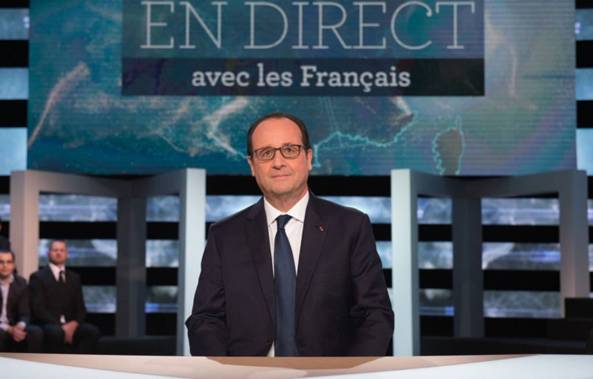 Le face-à-face télévisé de François Hollande avec les Français n'a pas convaincu. – WITT/SIPA