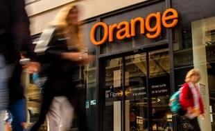 Une boutique de l'opérateur Orange (illustration).