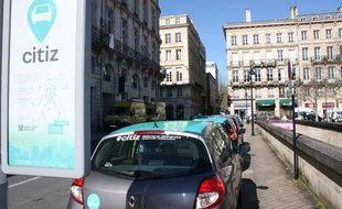 Le réseau d'autopartage Citiz à Bordeaux
