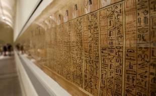 Des papyrus exposés au Musée égyptien de Turin (illustration).