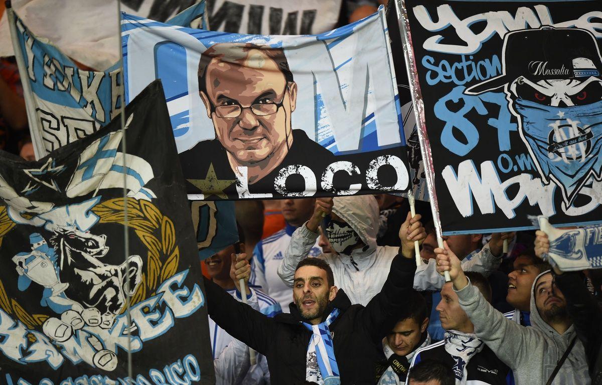 Un parcage visiteurs de supporters de l'OM. – FRANCK FIFE / AFP