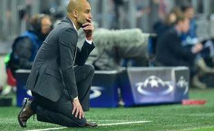 Pep Guardiola, l'entraîneur du Bayern Munich, le 3 mai 2016, contre l'Atlético Madrid.