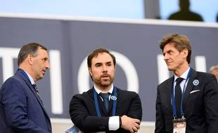 Joe DaGrosa, Hugo Varela et Frédéric Longuépée (de gauche à droite) au Matmut Atlantique.