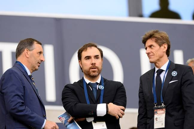 Joe DaGrosa, Hugo Varela and Frédéric Longuépée (from left to right) at Matmut Atlantique.