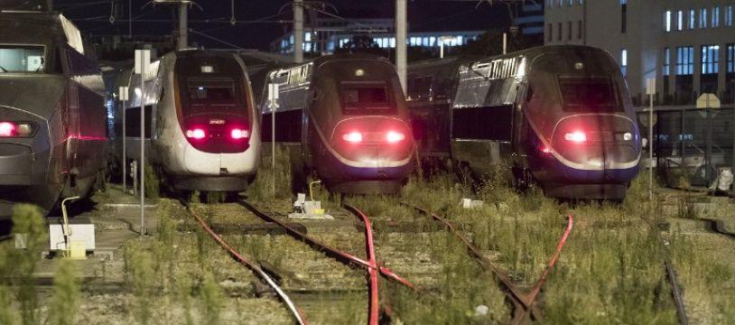 Des trains arrêtés pour maintenance à Châtillon, au sud de Paris.