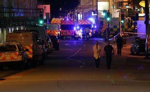 Les alentours de la Manchester Arena, où l'attaque a eu lieu
