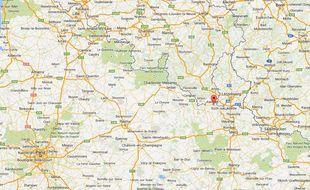Carte de Mexy, Meurthe-et-Moselle