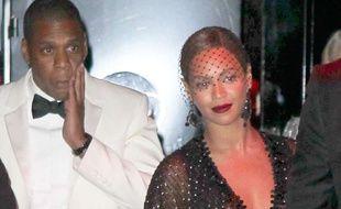 Jay-Z et Beyoncé après la gifle de Solange Knowles, le 5 mai 2014 à New York