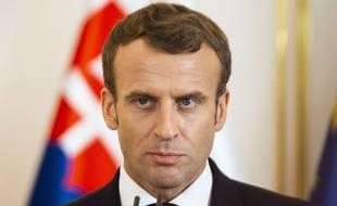 Emmanuel Macron le 26 octobre 2018 en Slovaquie.