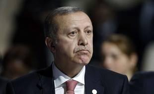 Recep Tayyik Erdogan, le 30 novembre 2015 à la COP21, la conférence mondiale pour le climat au Bourget.