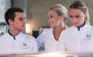Catherine Marchal, Aurélie Pons et Fabian Wolfrom dans « Ici Tout Commence »