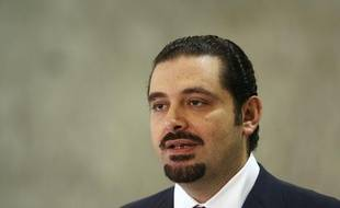 Le Premier ministre libanais, Saad Hariri, après un entretien avec le président libanais Michel Suleiman, au palais présidentiel, à Baabda près de Beyrouth, le 27 juin 2009.