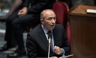 Gerard COLLOMB (Ministre de l'Interieur). Seance des Questions au Gouvernement, Assemblee Nationale, Palais Bourbon, Paris, France, le 11 Octobre 2017.