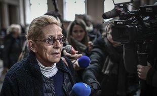 Paris, le 11 décembre 2019. Isabelle Balkany arrive à la cour d'appel de Paris où elle jugée, avec son mari Patrick, pour fraude fiscale.