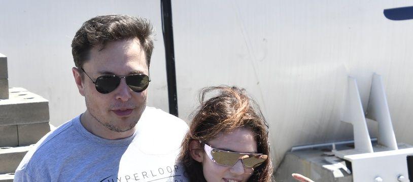La chanteuse Grims et son compagnon, l'entrepreneur Elon Musk