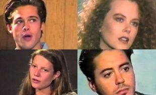 Brad Pitt, Nicole Kidman, GwynethPaltrow et Robert Downey Jr, lors de leurs premiers castings
