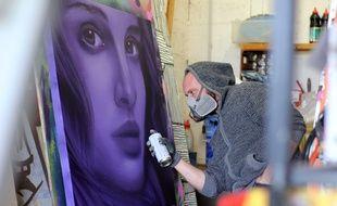 Le graffeur rennais Aero s'est spécialisé dans les portraits. Ses oeuvres sont visibles un peu partout à Rennes... et dans le monde.