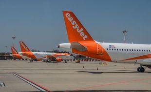 Des avions Easyjet à l'aéroport de Milan.