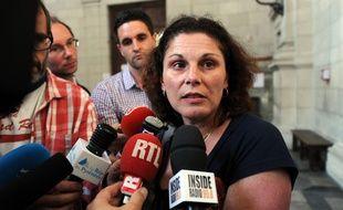 Valerie Lance,la mère d'Alexandre Junca, tué en 2011 à coups de marteau à Pau./ AFP PHOTO / IROZ GAIZKA